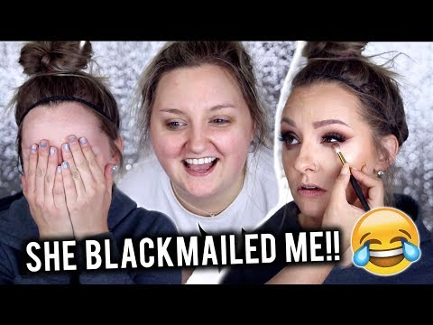 GLAMMING MY SISTER & ANSWERING YOUR QUESTIONS *Cringe lol*