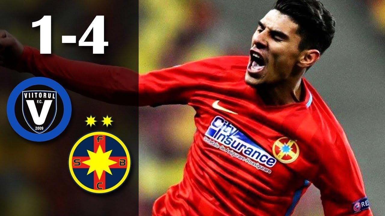 Rezumat: Viitorul - FCSB 1 - 4 (0-1) #steaua