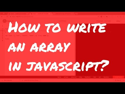 Javascript Tutorial for Beginner Web Developers: #3 how to write an array in javascript?