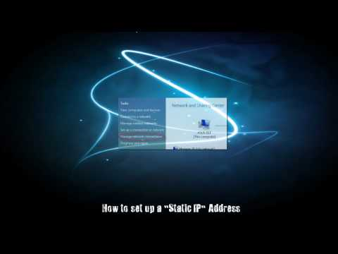 How to set up a Static IP (used for port forwarding)