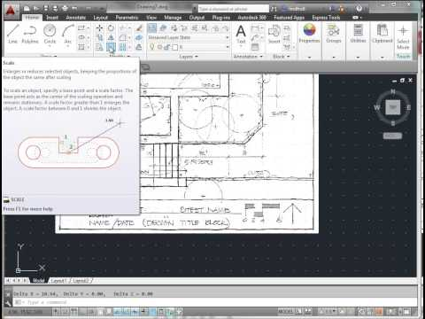 AutoCAD:  Insert and Scale an Image to Trace