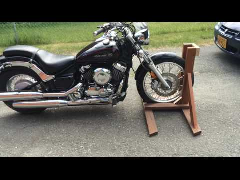 Homemade motorcycle stand