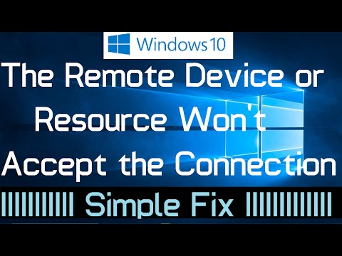 The remote device or resource won't accept the connection in Windows 10 (Solved)