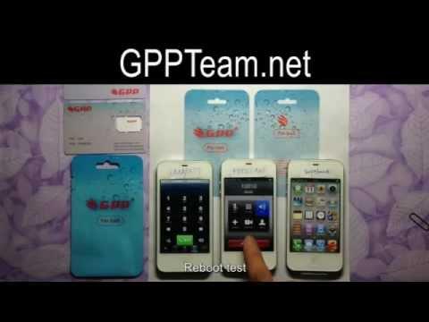 GPP SIM unlock iPhone 4S All version! No Jailbreak! No Dial 112!.flv
