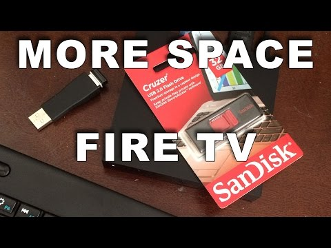 Amazon Fire TV Upgrade Storage and Sideload apps using USB drive