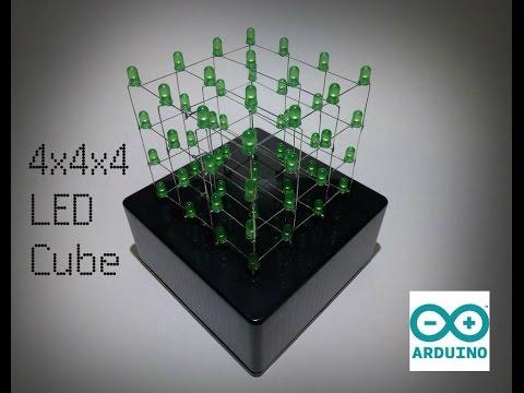 4x4x4 LED Cube Light Show | Tutorial [HD]