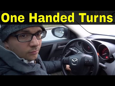 Making Right And Left Turns With One Hand-Beginner Driving Lesson