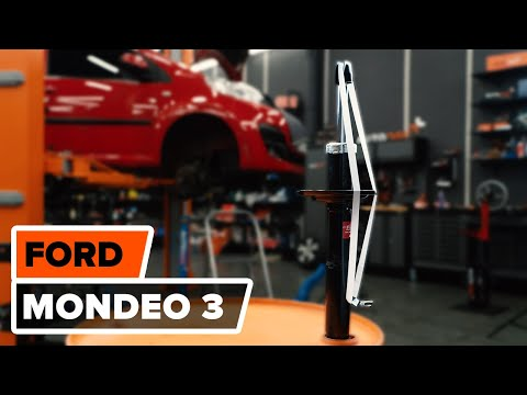 How to replace front shock absorbers on FORD MONDEO 3 TUTORIAL | AUTODOC