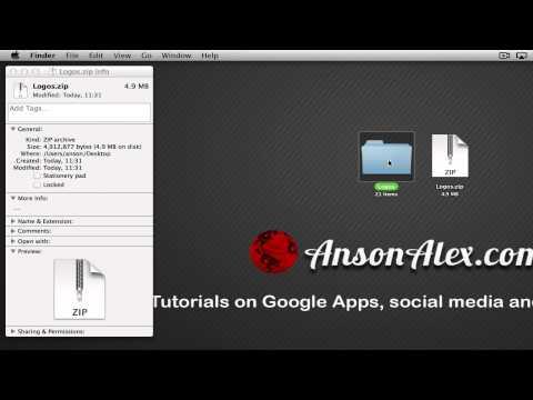 How to Create / Make a Zip File on Mac OS X