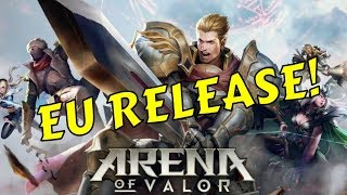 ARENA OF VALOR RELEASED IN EUROPE! BEST MOBA GAMEPLAY