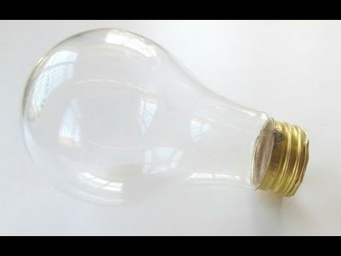 How to empty/hollow a light bulb without breaking it