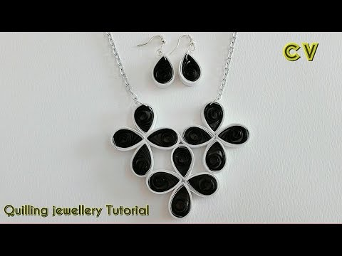 How to Make Quilling Paper Pendant / Paper Jewellery Making / Quilling Pendant / DIY 4