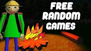 BALDI TOOK ME INTO THE WOODS & GAVE ME LIGMA | Free Random Games