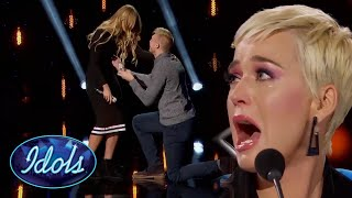 KATY PERRY BREAKS DOWN AFTER ON STAGE PROPOSAL | Idols Global