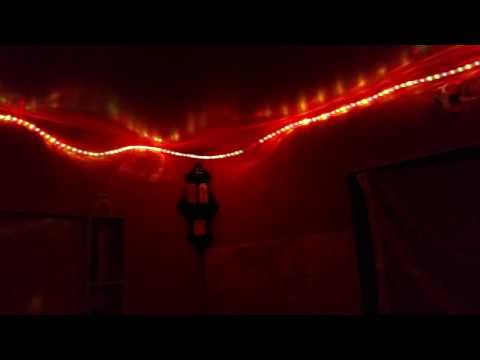 Rope lights in all the rooms