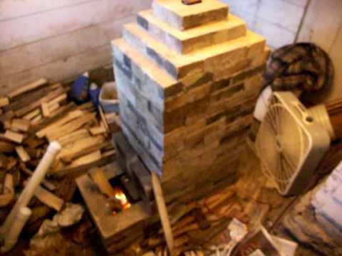 Rocket Mass Heater Stove Wood Refractory Masonry Hermon Heater