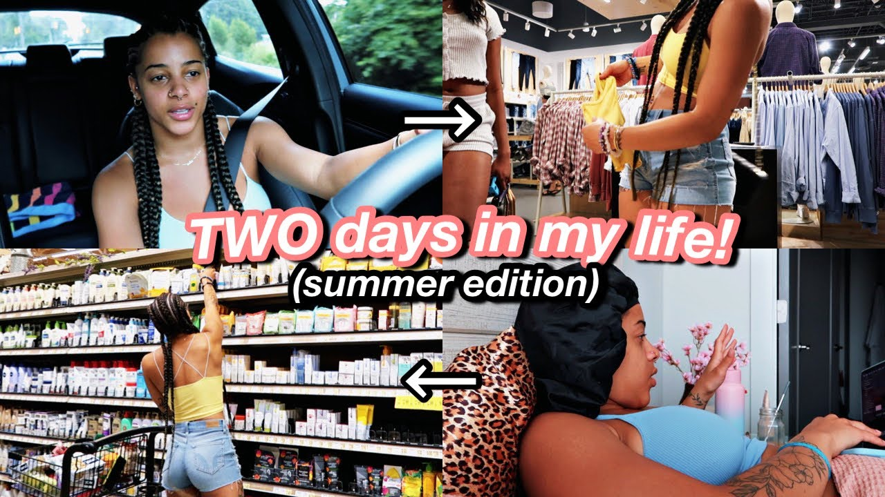 Vlog: TWO Days In My Life! mall, grocery shopping, appts, drive w/ me & more!   Azlia Willliams