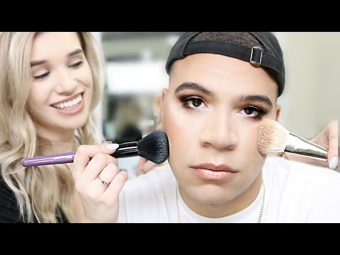 GIRLFRIEND DOES BOYFRIENDS MAKEUP!