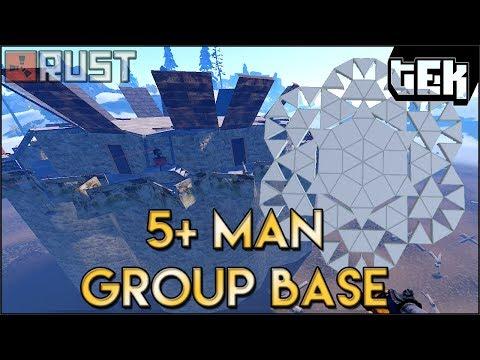 Working Large Group 5+ Man Base - 250k Stone - New Rust Update Base Build Post Devblog 158
