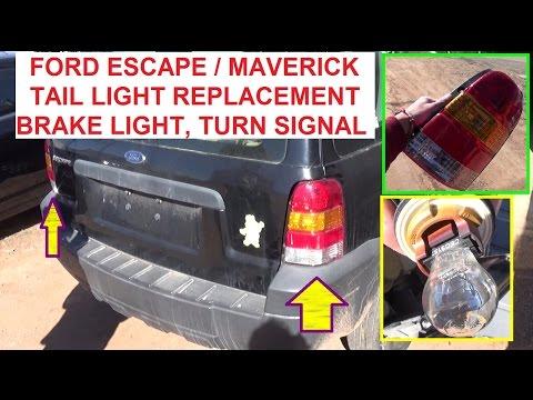 Ford Escape Mercury Mariner Tail Light Replacement  Tail Light, Brake Light, Rear Turn Signal light