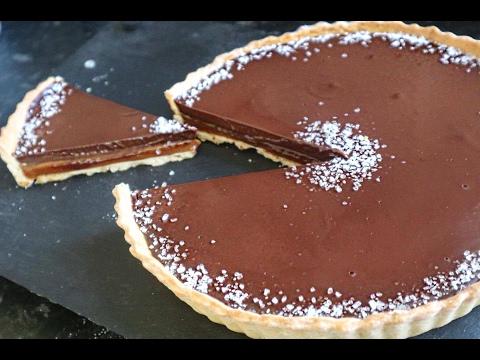Chocolate Salted Caramel Tart Recipe.