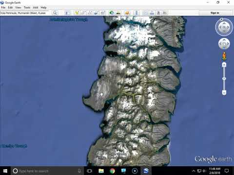 Tzar Bomba location from Google Earth
