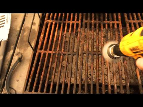 How to get rust off the grill fast and easy! Diy