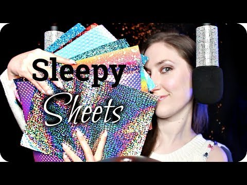ASMR Sleepy Scratching & Tapping On Textured Sheets 😴 Vinyl, Beeswax, Glitter, Holo etc. for Tingles