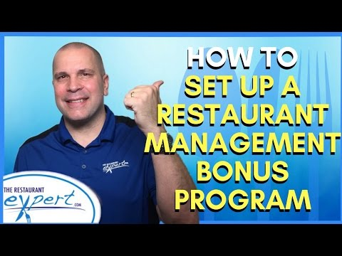 Restaurant Management Tip - How to Set Up a Restaurant Management Bonus Program  #restaurantsystems