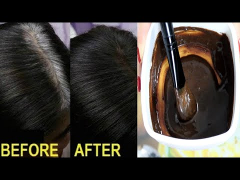 Get Jet Black HAIR Permanently, Get rid of GRAY HAIR, 100% NATURALLY at HOME