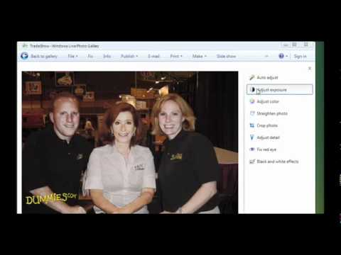 How to Adjust Image Exposure in Windows Live Photo Gallery For Dummies