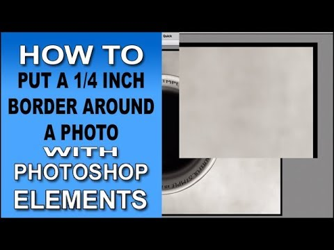 How To Add A Quarter Inch Border Around A Photo