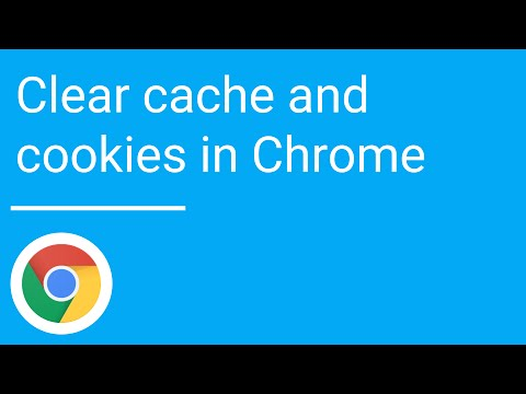Clear cache and cookies in Google Chrome
