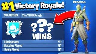 TBNRfrags Fortnite Stats, K/D Ratio & Win Percentage - Fortnite: Battle Royale!
