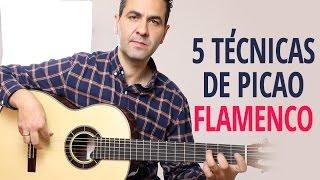 5 TÉCNICAS BÁSICAS DE PICAO o PUNTEO  FLAMENCO SOBRE LA MISMA ESCALA (Jerónimo de Carmen TUTORIAL)