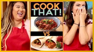 CHEESEBURGER MACARONI CHALLENGE w/ Remi Ashten and Adrienne Finch | COOK THAT