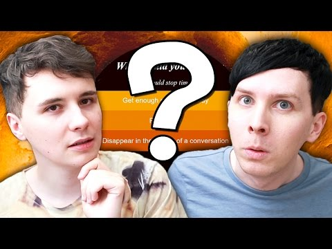 ARE WE EVIL OR WHAT - Dan and Phil play: What Would You Do If..