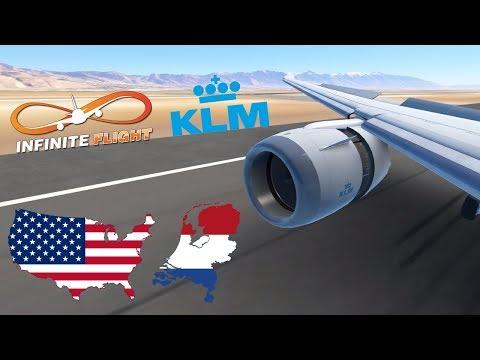 Infinite Flight GLOBAL: Amsterdam (AMS) To Salt Lake City (SLC) | TIMELAPSE | KLM | Boeing 787