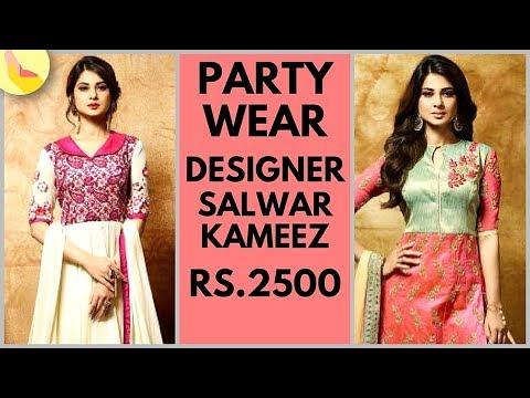 Party Wear Churidar   Designer Churidar   Party Wear Salwars   Designer Salwars   Rs. 2500 to 5000