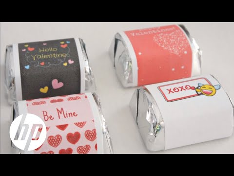 Printable Valentine's Day Mini Candy Bar Wrappers