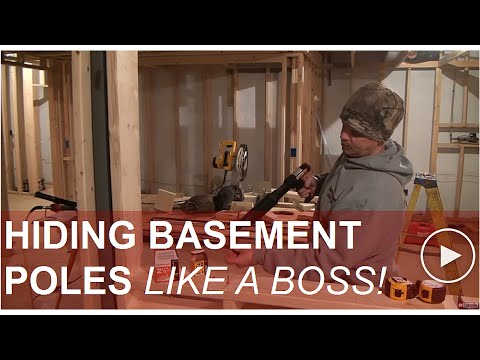 Hiding Basement Support poles
