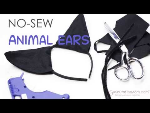 How to Make Easy No Sew Animal Ears