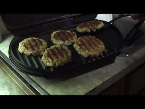 Grilled Salmon Patty Burgers
