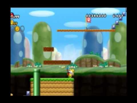 New Super Mario Bros Wii Custom Level 1-1 by NinARM1