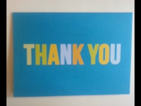 Teach Kids How to Write a Thank You Note