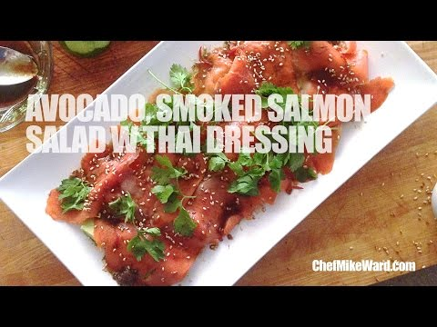 Avocado & Smoked Salmon Salad w Thai Dressing (#PopUpRecipe)