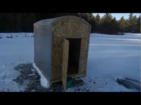 Ice shanty build