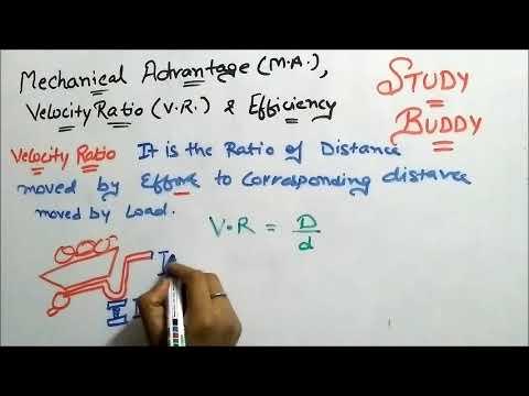 Mechanical Advantage , Velocity Ratio and Efficiency