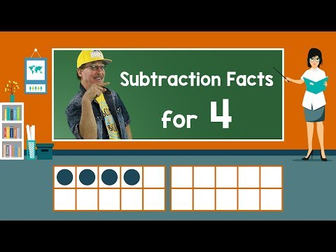 Practice Our Subtraction Facts for 4 | Subtraction Song | Math Song for Kids | Jack Hartmann