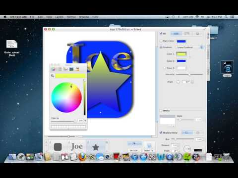 How to create logos on a mac